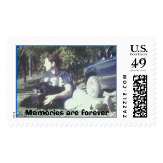 Girl & dog stamp, Memories are forever