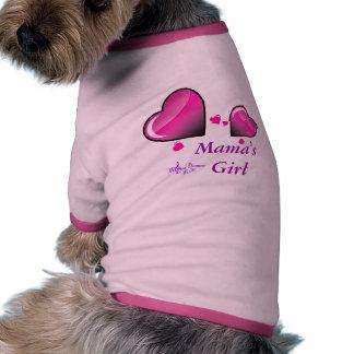 Girl Doggie Ringer T-Shirt de mamá Camiseta De Mascota