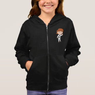 Girl Doing Karate Girls Hoodie