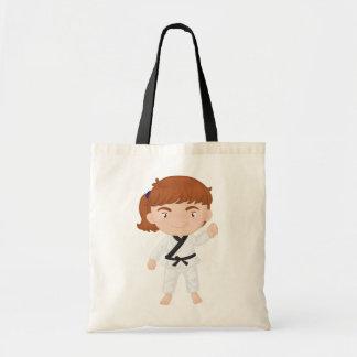 Girl Doing Karate Tote Bag