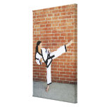 Girl doing martial arts 2 gallery wrapped canvas