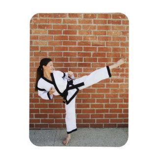 Girl doing martial arts 2 magnet