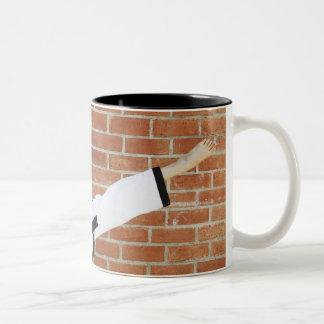 Girl doing martial arts 2 Two-Tone coffee mug