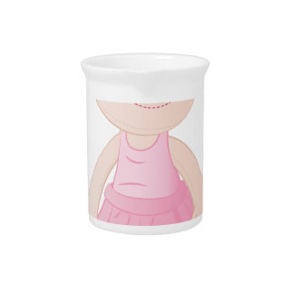 Girl Doll Drink Pitchers