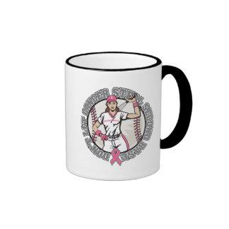 Girl-Don't Let Cancer Steal 2nd Base-Breast Cancer Ringer Coffee Mug