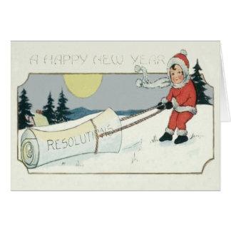 Girl Dragging Resolutions Paper Full Moon Card