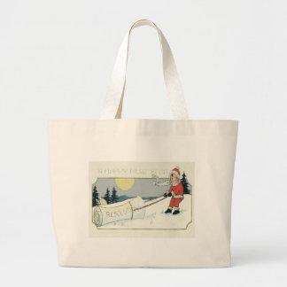 Girl Dragging Resolutions Paper Full Moon Large Tote Bag