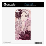 Girl Drawing iPhone Skins 4/4S Decal For The iPhone 4S