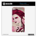 Girl Drawing iPone Skins 4/4S iPhone 4S Decal