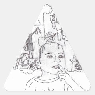 Girl Dreams 1 Triangle Sticker