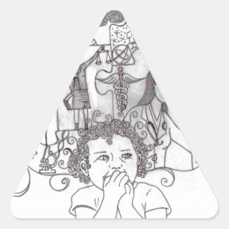 Girl Dreams 2 Triangle Sticker