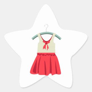 Girl Dress Star Sticker
