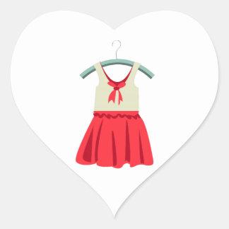 Girl Dress Heart Sticker