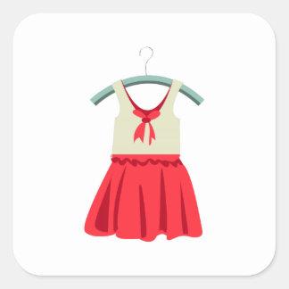 Girl Dress Square Sticker
