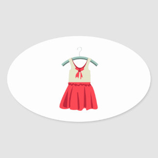 Girl Dress Oval Stickers