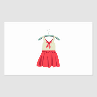 Girl Dress Rectangle Stickers