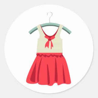 Girl Dress Round Sticker