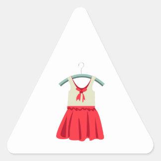 Girl Dress Triangle Sticker