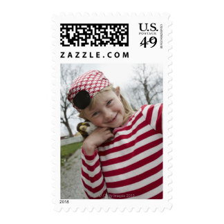 Girl dressed up as a pirate Sweden Stamp