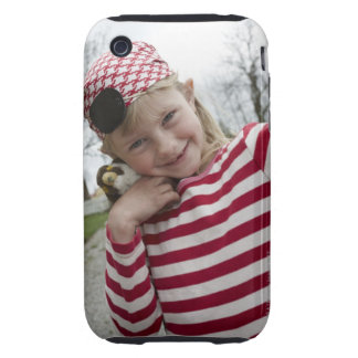 Girl dressed up as a pirate, Sweden. Tough iPhone 3 Cover