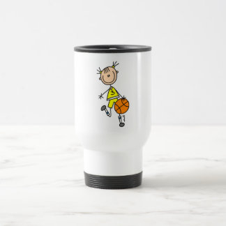 Girl Dribbling Basketball Tshirts and Gifts Travel Mug