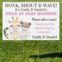 Girl Drive By Baby Shower Sign
