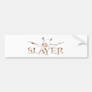 GIRL DUCK SLAYER BUMPER STICKER