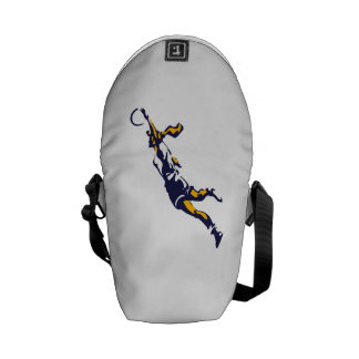 Girl Dunking Basketball Courier Bags