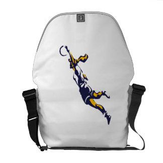 Girl Dunking Basketball Messenger Bag