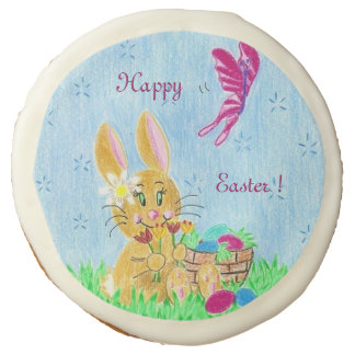 Girl Easter bunny sugar cookies