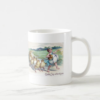 Girl Easter Chick Egg Drum Victorian Coffee Mug