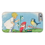 Girl Easter Lilly Gnome Elves Singing Bird Basket Barely There iPhone 6 Case