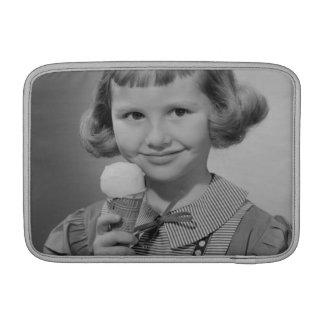 Girl Eating Ice Cream MacBook Sleeve