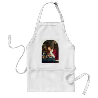 Girl Eating Oysters., Oestereetstertje  By Jan Ste Adult Apron