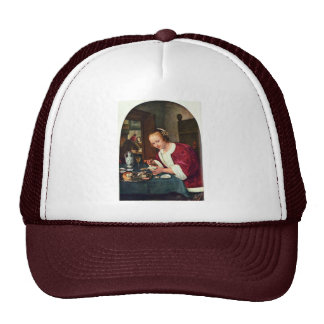 Girl Eating Oysters., Oestereetstertje  By Jan Ste Trucker Hat