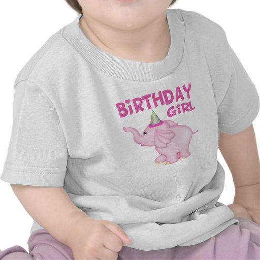 Girl Elephant Birthday Party Tee Shirts