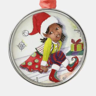 Girl Elf Christmas ornament