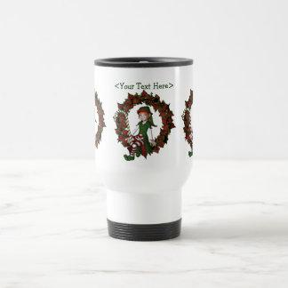 Girl Elf Personalized Christmas Holiday Mug