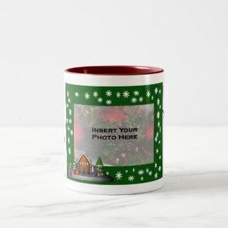 Girl Elf Scene Christmas Photo Mug