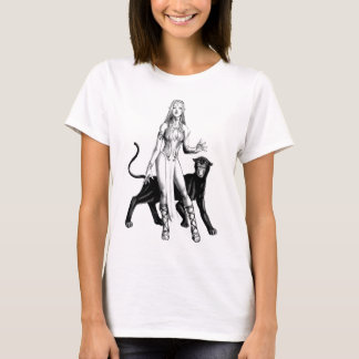 girl elf with panther T-Shirt
