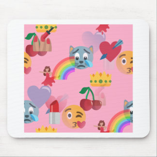girl emoji mouse pad