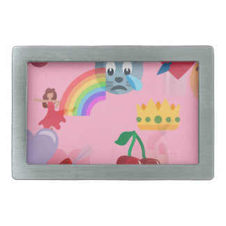 girl emoji rectangular belt buckle