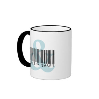 Girl Empowerment: You can be pretty and smart Ringer Coffee Mug