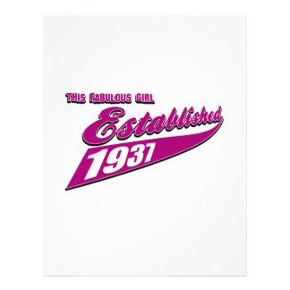 Girl Established 76 Letterhead