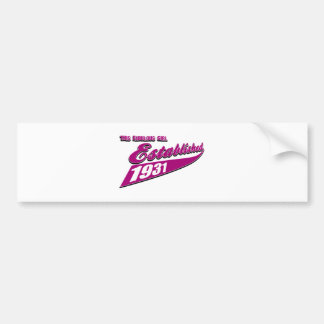 Girl Established 82 Bumper Sticker