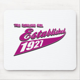 Girl Established 86 Mouse Pad