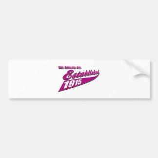 Girl Established 98 Bumper Stickers