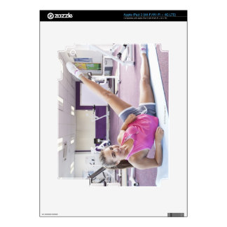 Girl Exercising in Gym iPad 3 Decal