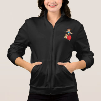 Girl Exercising With Weights Womens Jacket