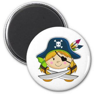 Girl Eyepatch Pirate Magnet Refrigerator Magnet